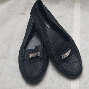 Coach Fedrica Black Loafers - Size 8